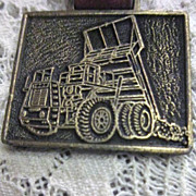 Vintage Watch Fob with DART Dump Truck
