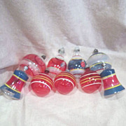 Set of 9 Christmas Ornaments from War Era Un-Silvered