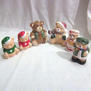 3 Sets of Christmas Bears Salt & Pepper Shakers