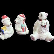 Set of 2 Polar Bear Salt & Pepper Shakers