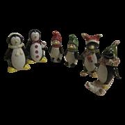 3 Pair Christmas Penguin S&P Shakers
