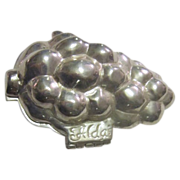 Pewter Ice Cream Mold Grape Cluster in Canvas Bag