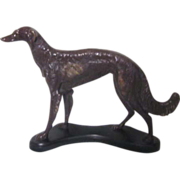 Heavy Metal Borzoi (Russian Wolfhound) Dog on Base