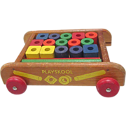 Playskool Wagon and Blocks Pull Toy