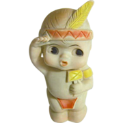 Rubber Soakey Toy Little Indian from 1960