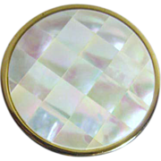 Max Factor Mother of Pearl Compact c1950's