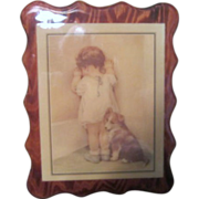 Acrylic Covered Decoupage Print by Bessie Pease Gutmann