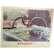 "Elvis Presley Theatre Lobby Advertising Card ""Spinout"""