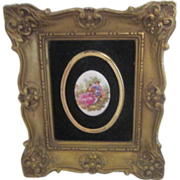 Framed Oval Cameo Picture of Young Courting Couple