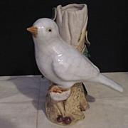 Vintage Pottery Bird Vase