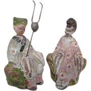 Pair of Miniature Asian Figurines