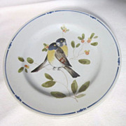 "Vintage Fitz and Floyd ""Oiseau"" Pattern Bread and Butter Plates (Set of 4)"