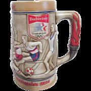 1984 L.A. Olympics Budweiser Beer Stein