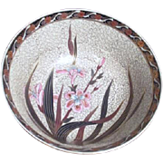 SALE Hand Painted Flowers with Gold Trim Asian Bowl