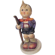 Hummel Figurine Country Suitor Boy with Walking Stick from West Germany