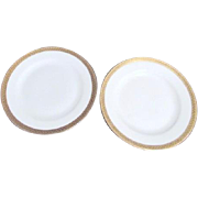 Two Royal Bayreuth Bread and Butter Plates in ROB20 Pattern