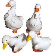 Two Pair of Geese Salt & Pepper Shaker Sets