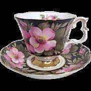 Royal Albert Bone China Cup and Saucer Alberta Rose