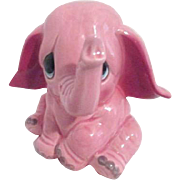 Ceramic Pink Elephant Bank