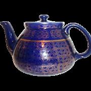 Hall Royal Blue with Gold Trim Tea Pot