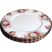 Set of 4 Royal Albert Salad Plates Celebration Pattern
