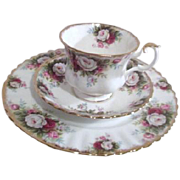 Royal Albert Bone China Celebration Pattern Cup Saucer and Salad Plate