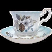 Royal Albert Bone China Cup Saucer Blue Hues