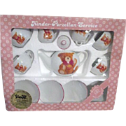 Steiff Limited Edition Collector Tea Set for 4 Original Box