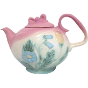 Hull Art Pottery Bow Knot Tea Pot Shaded Pastels