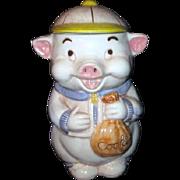 Treasure Craft Cookie Jar Pig with Baseball Cap