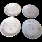 Theodore Haviland Limoges Antique Set of 4 Sauce Bowls Marie Pattern