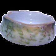 Ceramic Hand Painted Open Salt 1912