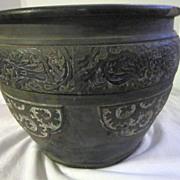 SALE Antique Japanese Clay Pot