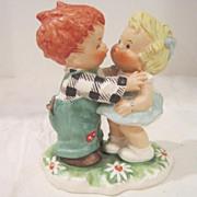Vintage Goebel Porcelain Red-Headed Figurine from West Germany