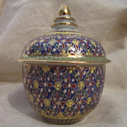 Hand Painted Porcelain Jar With Lid