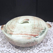 Vernonware Raffia Pattern Covered Casserole Dish
