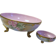 SALE Limoges France 2 Piece Set Hand Painted Bowls by T&V