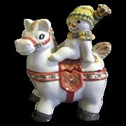 Fritz & Floyd Essentials The Flurries Series Snowman on Horse