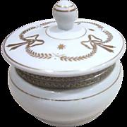 Porcelain Hinged Lidded Round Vanity Box