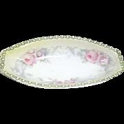 "Vintage Hand Decorated Elliptical Bowl Marked ""K&L Germany"""