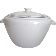 Ceramic Casserole Pot with Lid and Handles by Bauscher Weiden