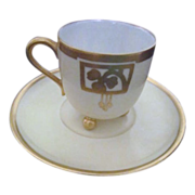 Footed Cup with Saucer from Haviland France