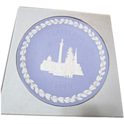 Wedgwood Blue & White Jasper 1970 Christmas Plate