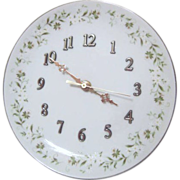 Lefton Porcelain Wall Clock by Suzuki