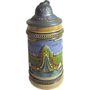 SALE 1904 St Louis World's Fair Beer Stein from Germany