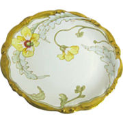 SALE Hand Painted Gilded Edge Floral Plate/Charger from Limoges France