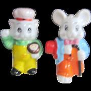 Set of Bunny and Kitty Salt & Pepper Shaker