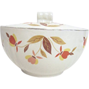Jewel Tea Autumn Leaves Pattern Lidded (Grease) Drippings Jar