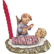 Hummel Figurine of Christmas Angel Serenading Baby Jesus