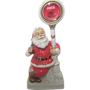 SOLD Melody in Motion Standing Christmas Santa with Coca Cola Clock and Bottle